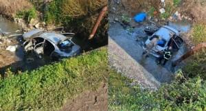 Otomobil dereye uçtu: 3 ölü